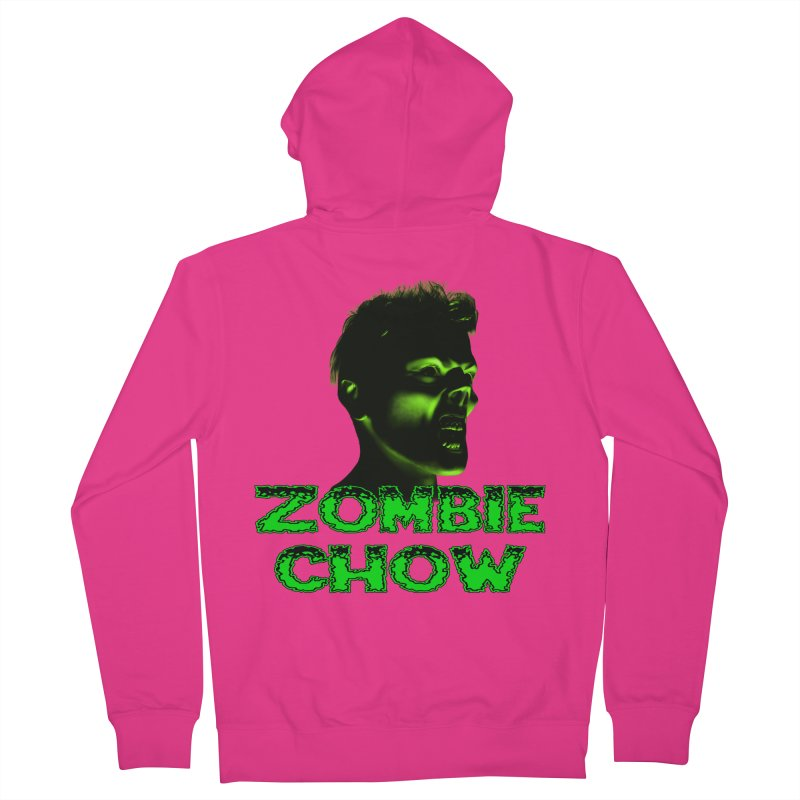 Zombie Chow Men's French Terry Zip-Up Hoody by Magickal Vision: The Art of Jolie E. Bonnette