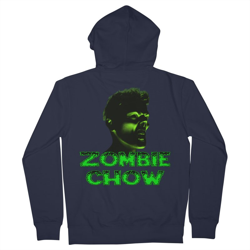 Zombie Chow Men's Zip-Up Hoody by Magickal Vision: The Art of Jolie E. Bonnette