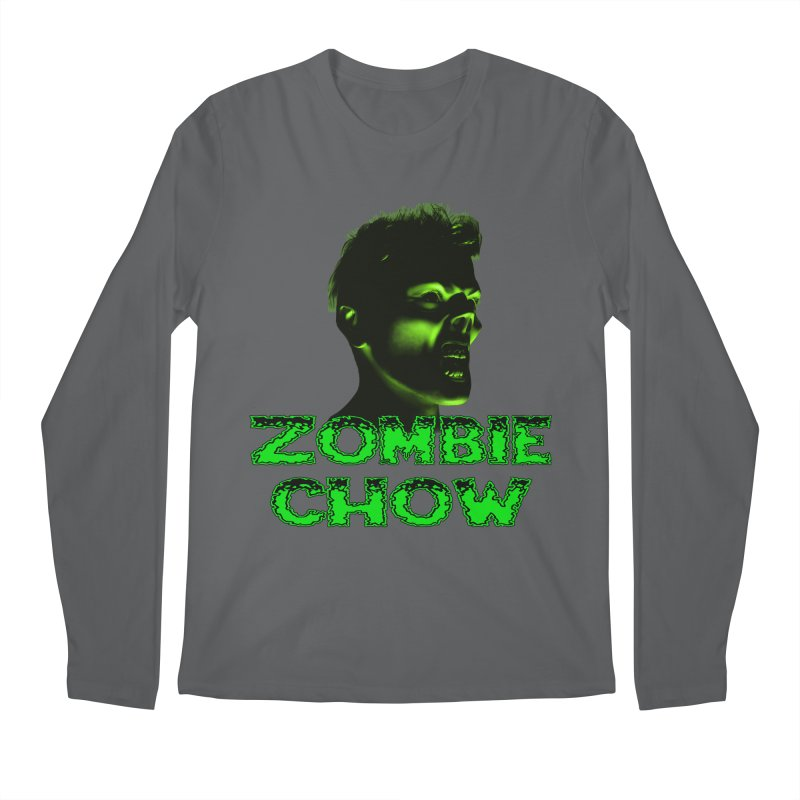 Zombie Chow Men's Regular Longsleeve T-Shirt by Magickal Vision: The Art of Jolie E. Bonnette