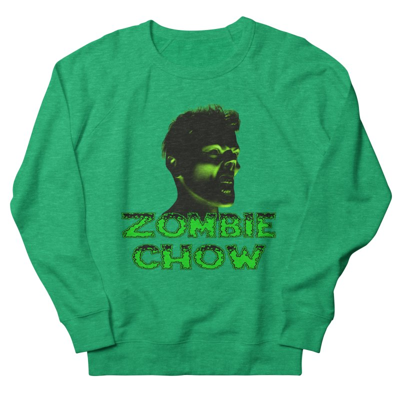 Zombie Chow Men's French Terry Sweatshirt by Magickal Vision: The Art of Jolie E. Bonnette