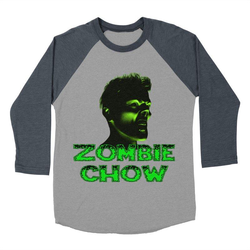 Zombie Chow Women's Baseball Triblend Longsleeve T-Shirt by Magickal Vision: The Art of Jolie E. Bonnette