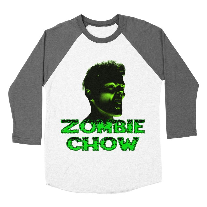 Zombie Chow Men's Baseball Triblend T-Shirt by Magickal Vision: The Art of Jolie E. Bonnette