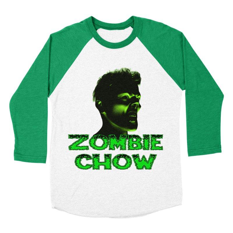 Zombie Chow Men's Baseball Triblend T-Shirt by Magickal Vision: The Art of Jolie E. Bonnette