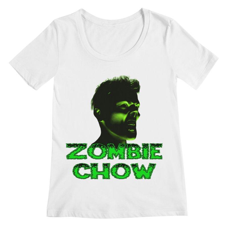 Zombie Chow Women's Regular Scoop Neck by Magickal Vision: The Art of Jolie E. Bonnette