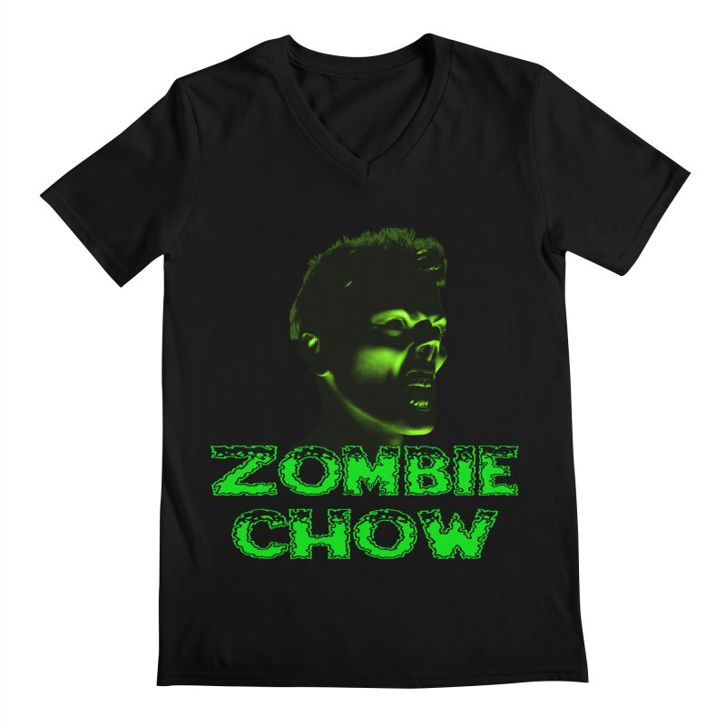 Zombie Chow Men's Regular V-Neck by Magickal Vision: The Art of Jolie E. Bonnette