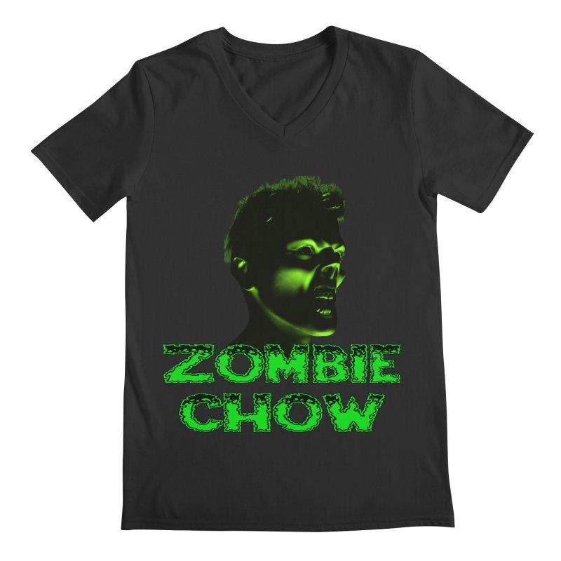 Zombie Chow Men's Regular V-Neck by Magickal Vision: The Art of Jolie E. Bonnette