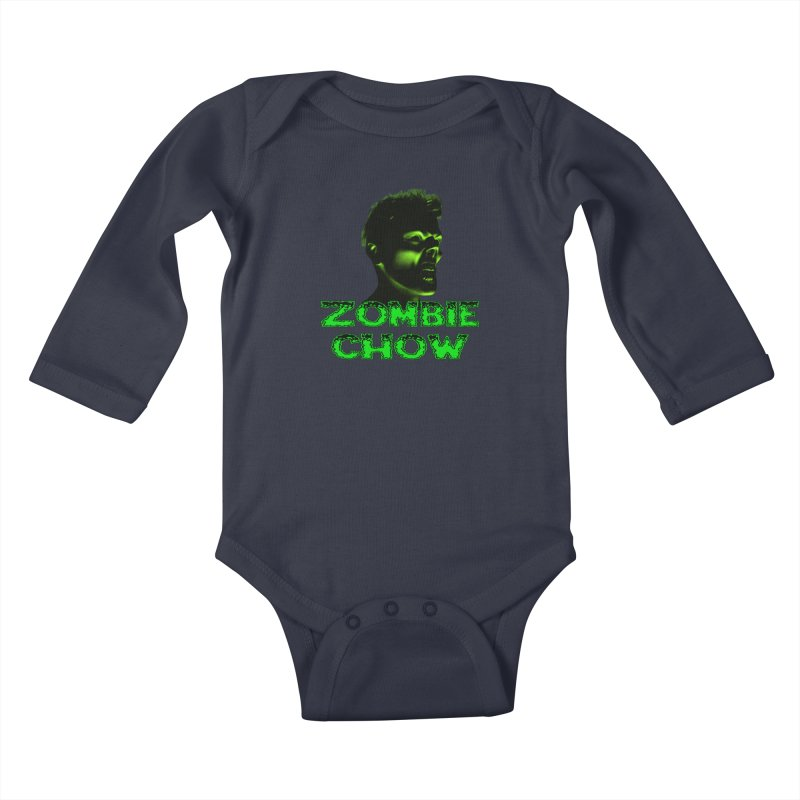Zombie Chow Kids Baby Longsleeve Bodysuit by Magickal Vision: The Art of Jolie E. Bonnette