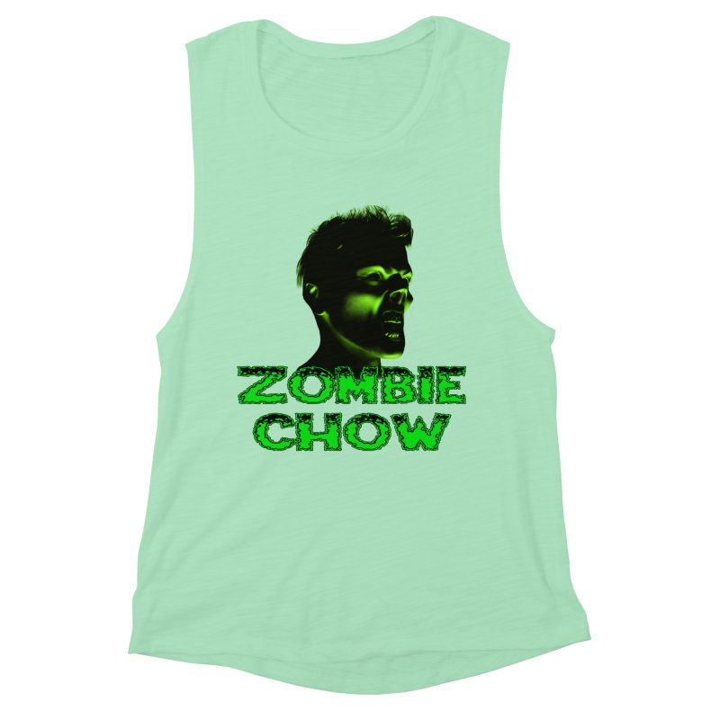 Zombie Chow Women's Muscle Tank by Magickal Vision: The Art of Jolie E. Bonnette
