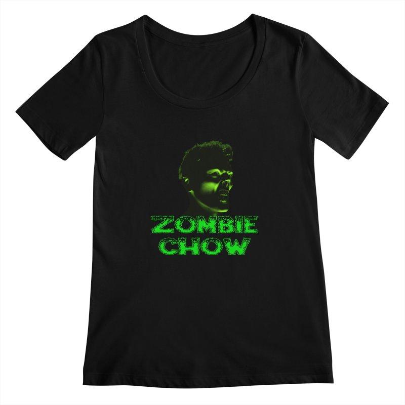 Zombie Chow Women's Scoopneck by Magickal Vision: The Art of Jolie E. Bonnette