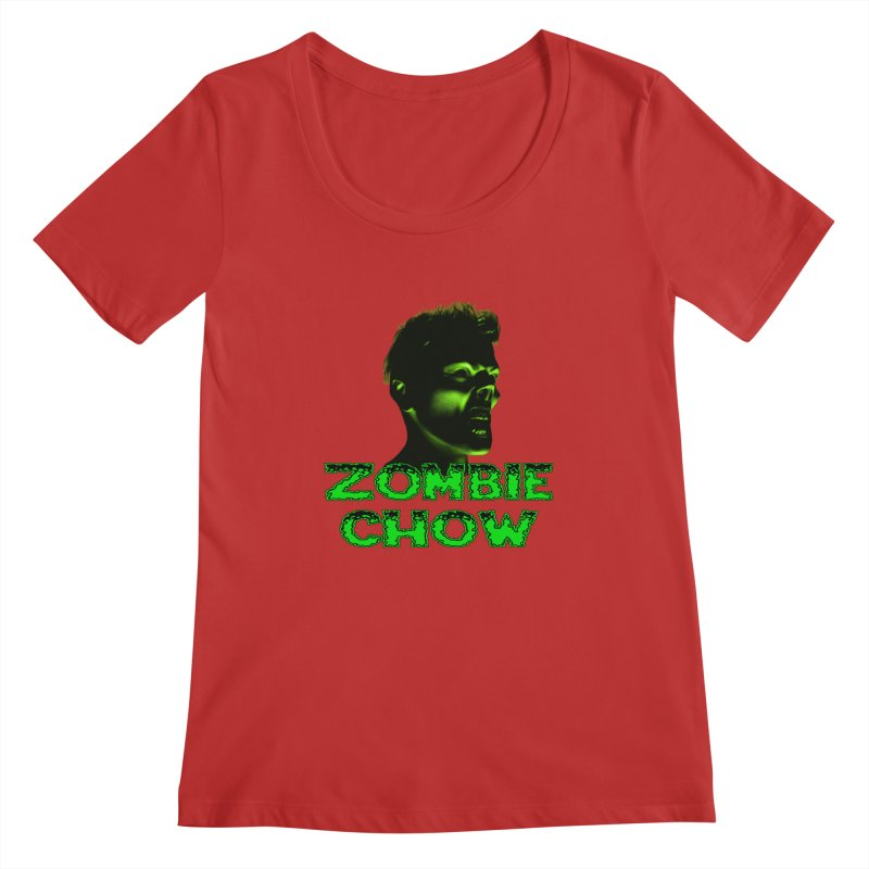 Zombie Chow Women's Regular Scoop Neck by Magickal Vision: The Art of Jolie E. Bonnette