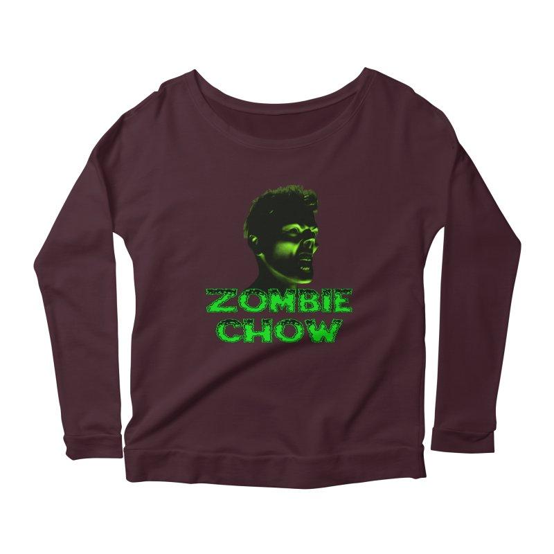 Zombie Chow Women's Longsleeve Scoopneck  by Magickal Vision: The Art of Jolie E. Bonnette