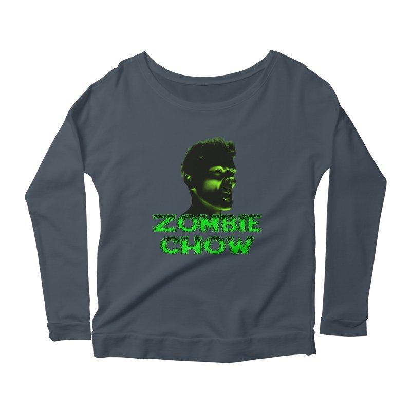 Zombie Chow Women's Scoop Neck Longsleeve T-Shirt by Magickal Vision: The Art of Jolie E. Bonnette