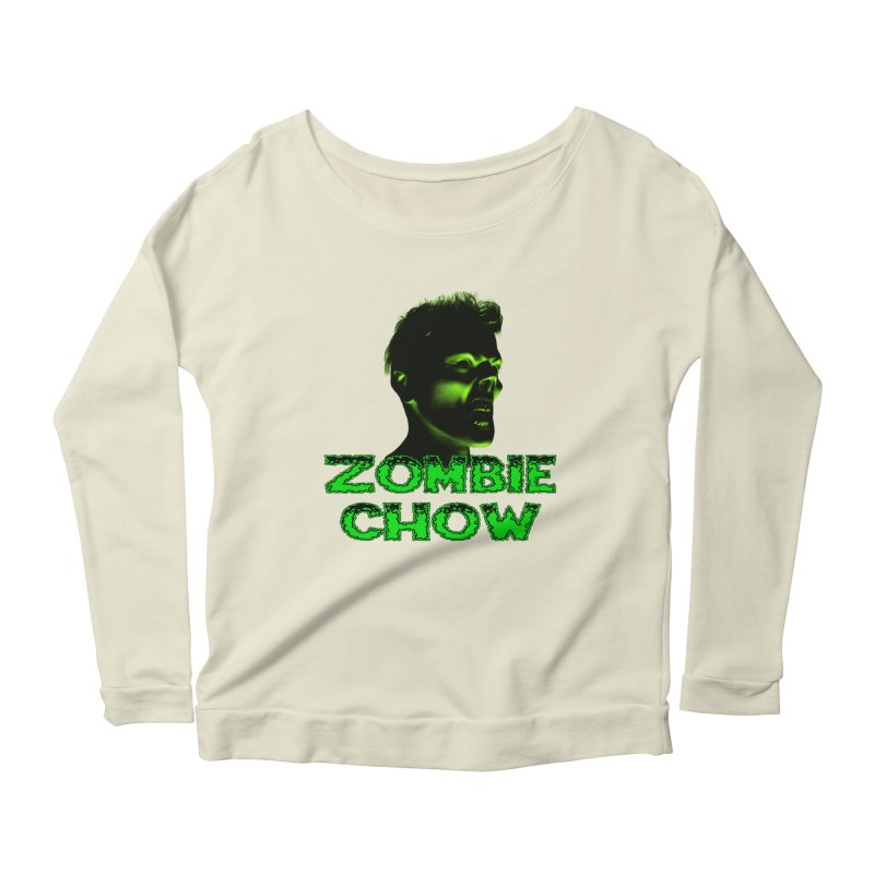 Zombie Chow Women's Longsleeve Scoopneck  by Magickal Vision: The Art of Jolie E. Bonnette