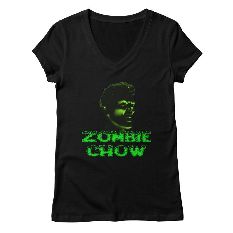 Zombie Chow Women's V-Neck by Magickal Vision: The Art of Jolie E. Bonnette