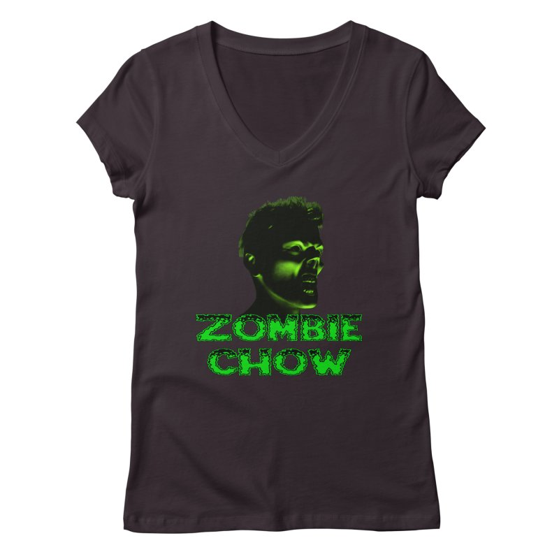 Zombie Chow Women's V-Neck by Magickal Vision: The Art of Jolie E. Bonnette