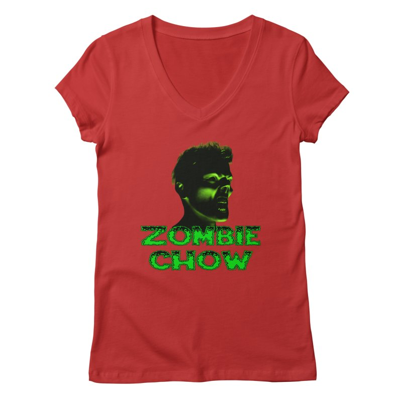 Zombie Chow Women's Regular V-Neck by Magickal Vision: The Art of Jolie E. Bonnette