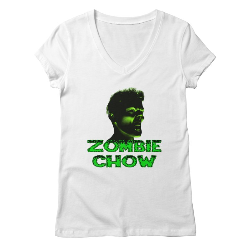Zombie Chow Women's Regular V-Neck by Magickal Vision: The Art of Jolie E. Bonnette