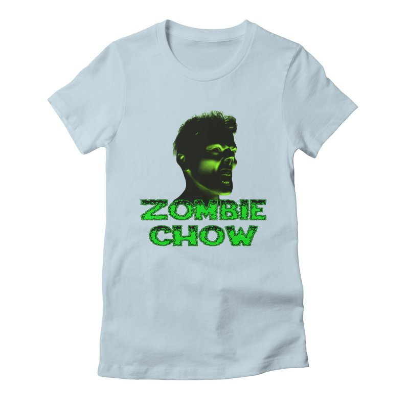 Zombie Chow Women's Fitted T-Shirt by Magickal Vision: The Art of Jolie E. Bonnette