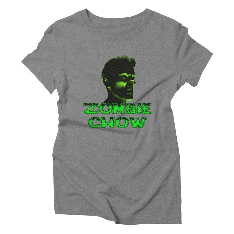 Zombie Chow Women's Triblend T-Shirt by Magickal Vision: The Art of Jolie E. Bonnette