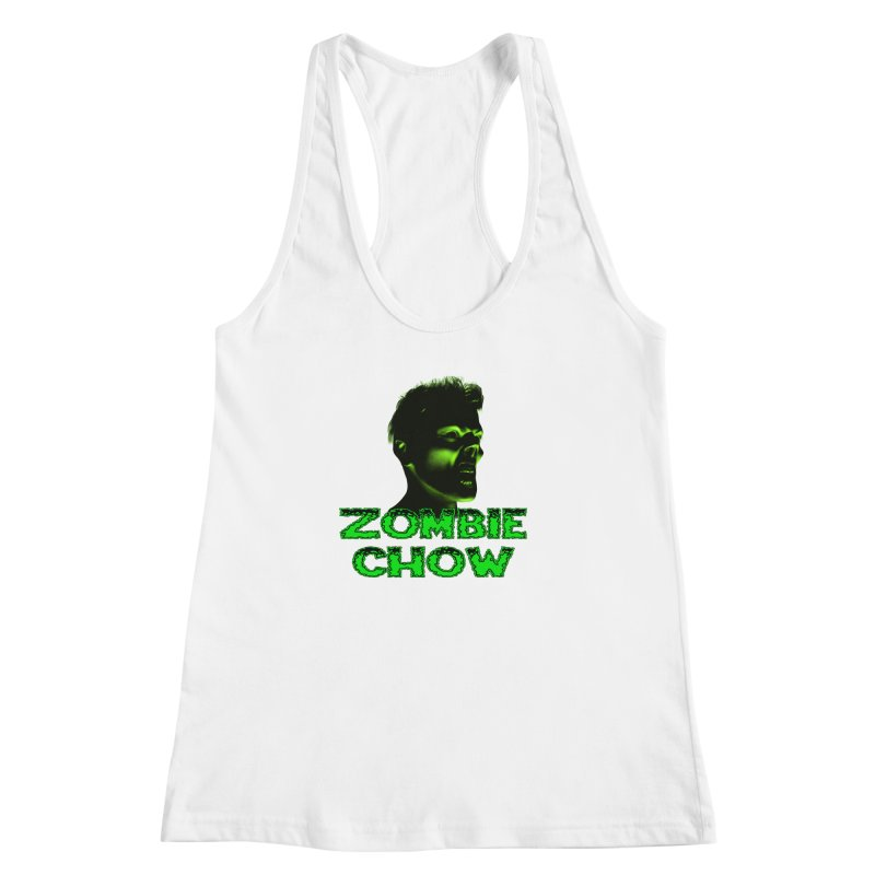 Zombie Chow Women's Racerback Tank by Magickal Vision: The Art of Jolie E. Bonnette