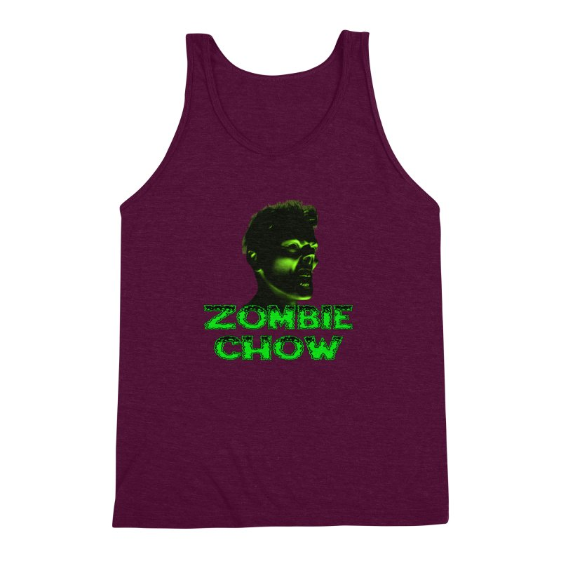 Zombie Chow Men's Triblend Tank by Magickal Vision: The Art of Jolie E. Bonnette