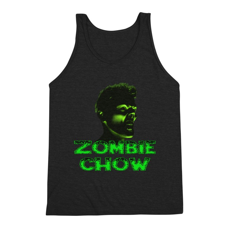 Zombie Chow Men's Triblend Tank by Magickal Vision: The Art of Jolie E. Bonnette