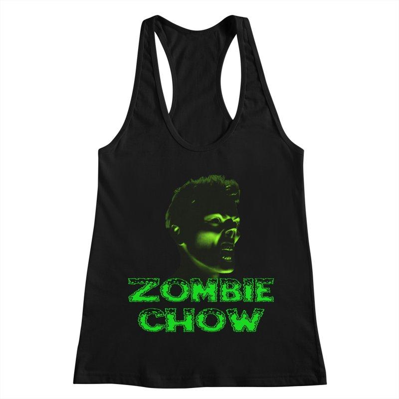 Zombie Chow Women's Racerback Tank by Magickal Vision: The Art of Jolie E. Bonnette