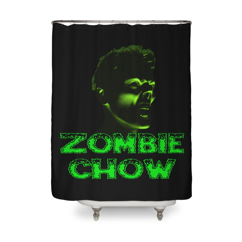 Zombie Chow Home Shower Curtain by Magickal Vision: The Art of Jolie E. Bonnette