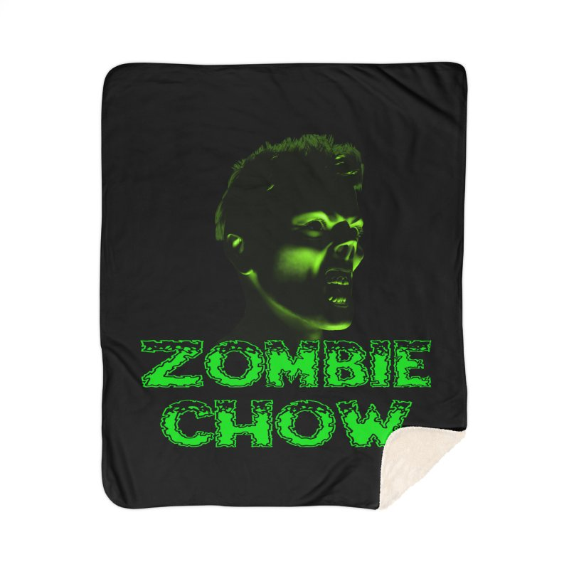 Zombie Chow Home Sherpa Blanket Blanket by Magickal Vision: The Art of Jolie E. Bonnette