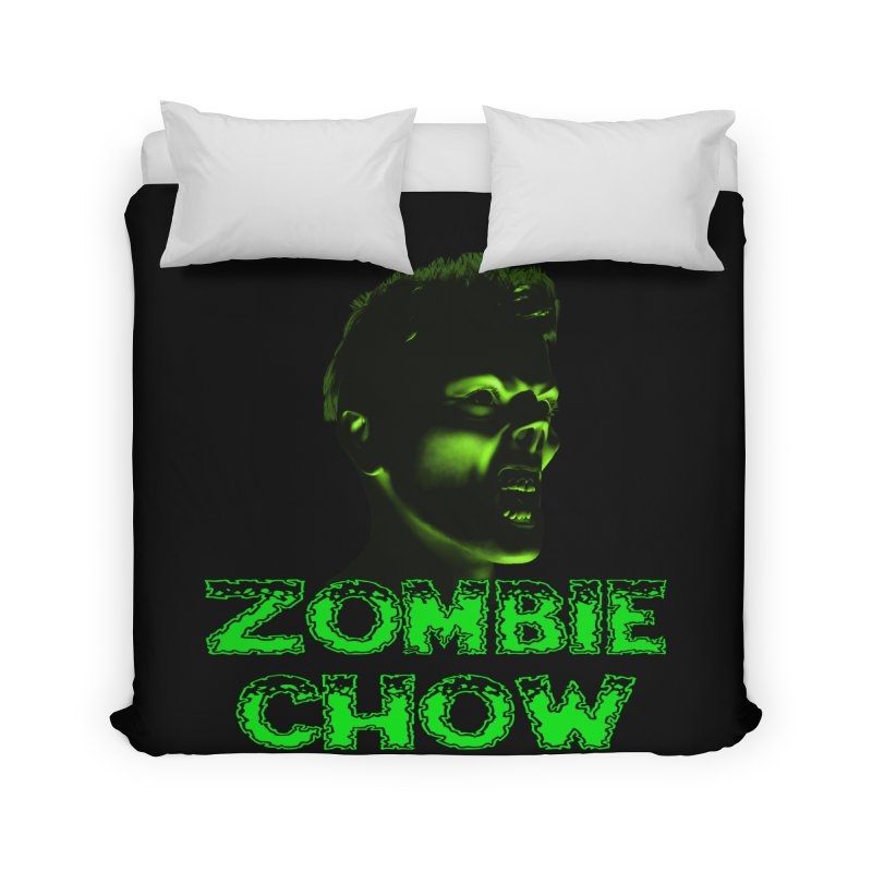 Zombie Chow Home Duvet by Magickal Vision: The Art of Jolie E. Bonnette