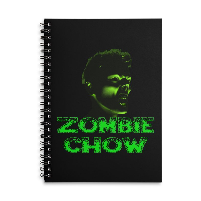 Zombie Chow Accessories Lined Spiral Notebook by Magickal Vision: The Art of Jolie E. Bonnette