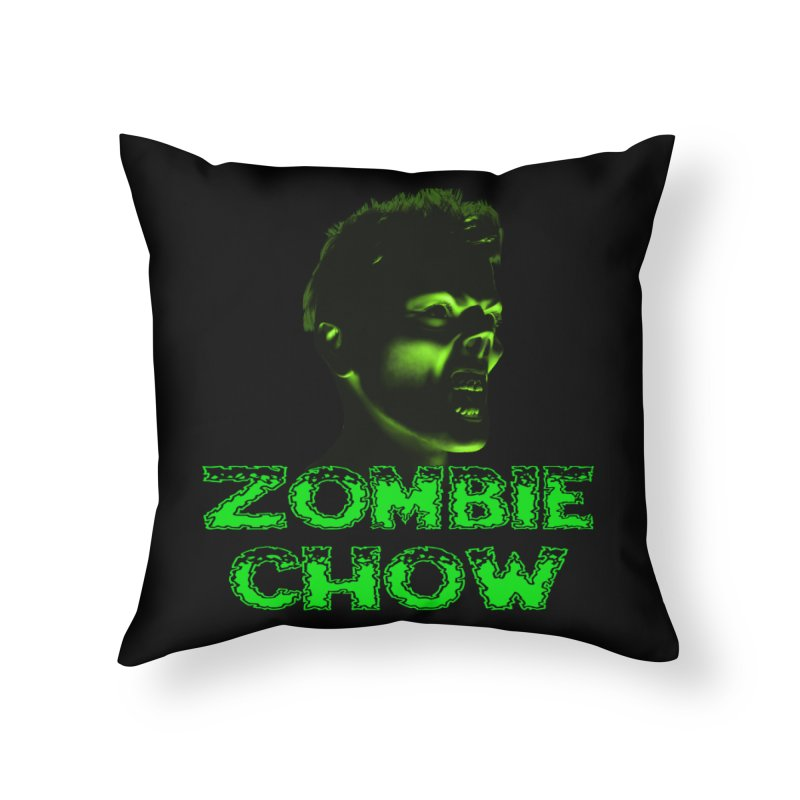 Zombie Chow Home Throw Pillow by Magickal Vision: The Art of Jolie E. Bonnette