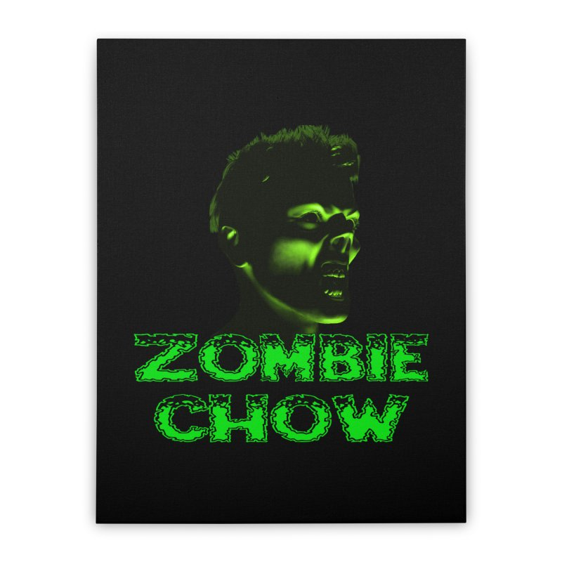 Zombie Chow Home Stretched Canvas by Magickal Vision: The Art of Jolie E. Bonnette