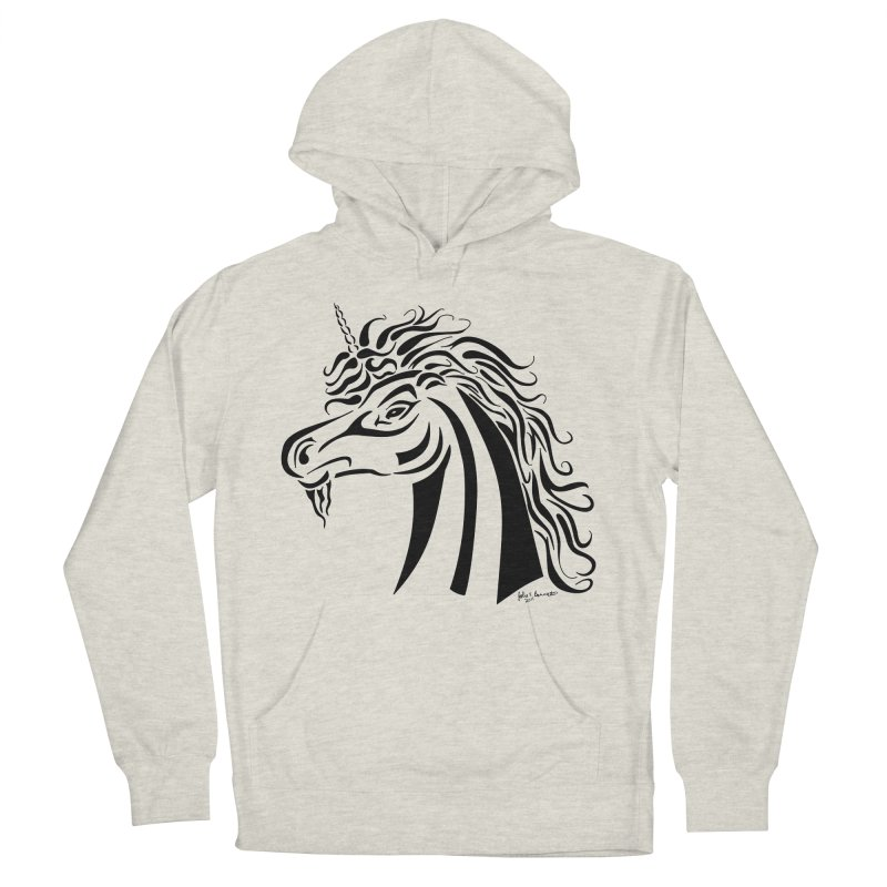 Unicorn Tribal Men's Pullover Hoody by Magickal Vision: The Art of Jolie E. Bonnette