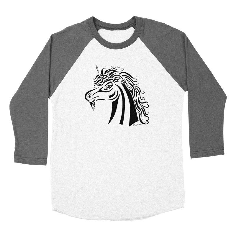 Unicorn Tribal Women's Longsleeve T-Shirt by Magickal Vision: The Art of Jolie E. Bonnette