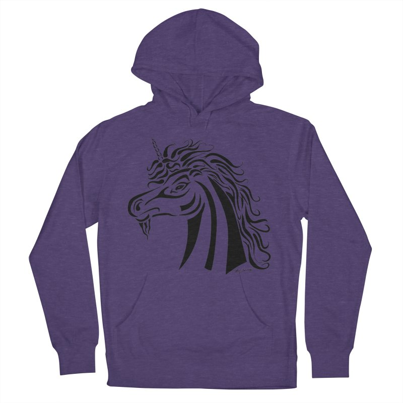 Unicorn Tribal Women's Pullover Hoody by Magickal Vision: The Art of Jolie E. Bonnette