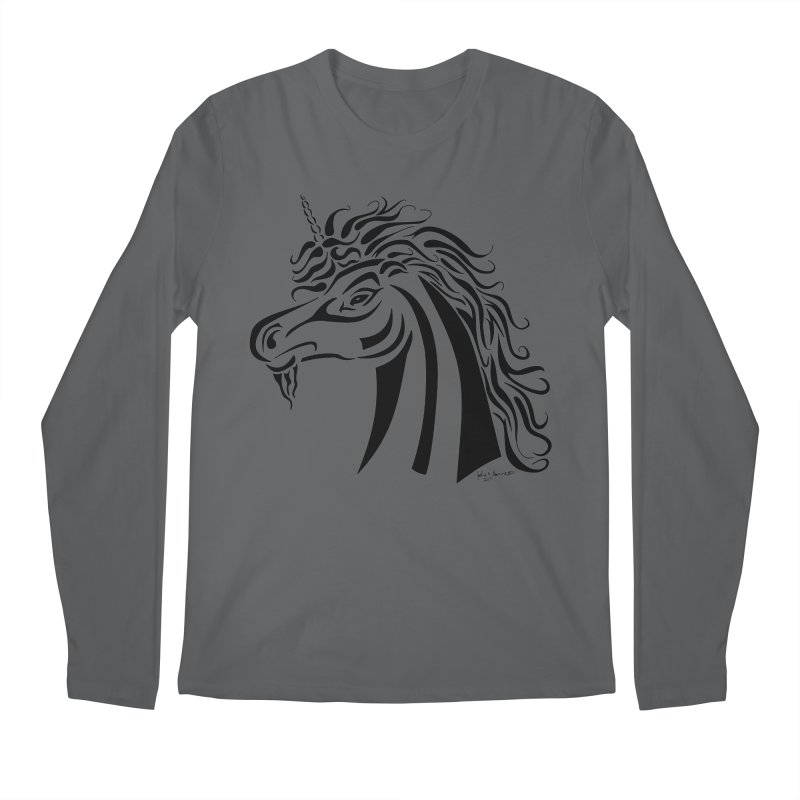 Unicorn Tribal Men's Longsleeve T-Shirt by Magickal Vision: The Art of Jolie E. Bonnette