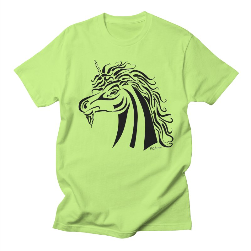 Unicorn Tribal Men's T-Shirt by Magickal Vision: The Art of Jolie E. Bonnette