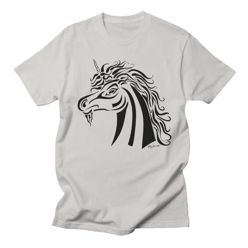 Unicorn Tribal Men's T-Shirt by Magickal Vision: The Art of Jolie E. Bonnette