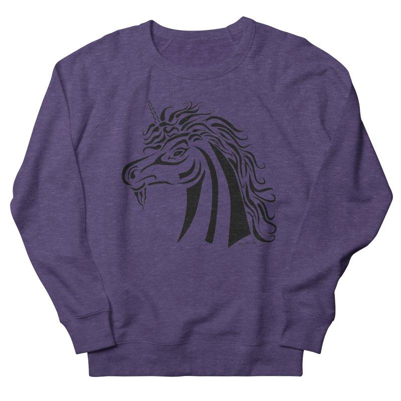 Unicorn Tribal Women's French Terry Sweatshirt by Magickal Vision: The Art of Jolie E. Bonnette