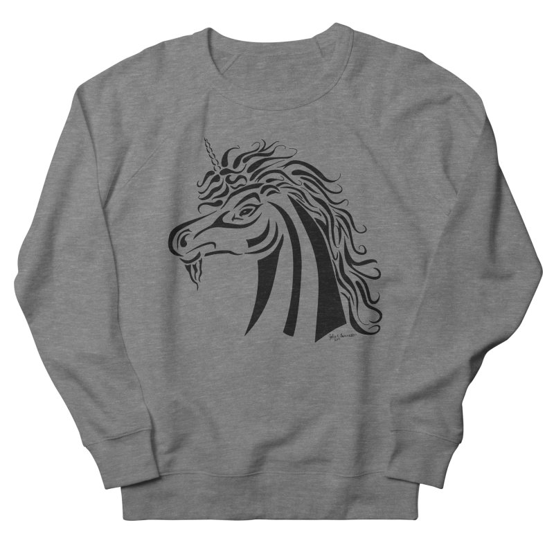 Unicorn Tribal Women's French Terry Sweatshirt by Magickal Vision: The Art of Jolie E. Bonnette