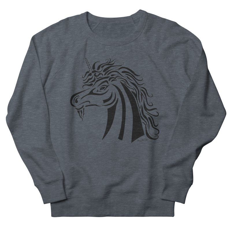 Unicorn Tribal Men's French Terry Sweatshirt by Magickal Vision: The Art of Jolie E. Bonnette