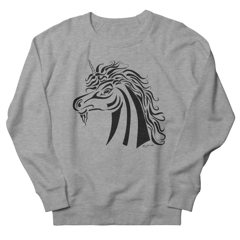 Unicorn Tribal Men's Sweatshirt by Magickal Vision: The Art of Jolie E. Bonnette