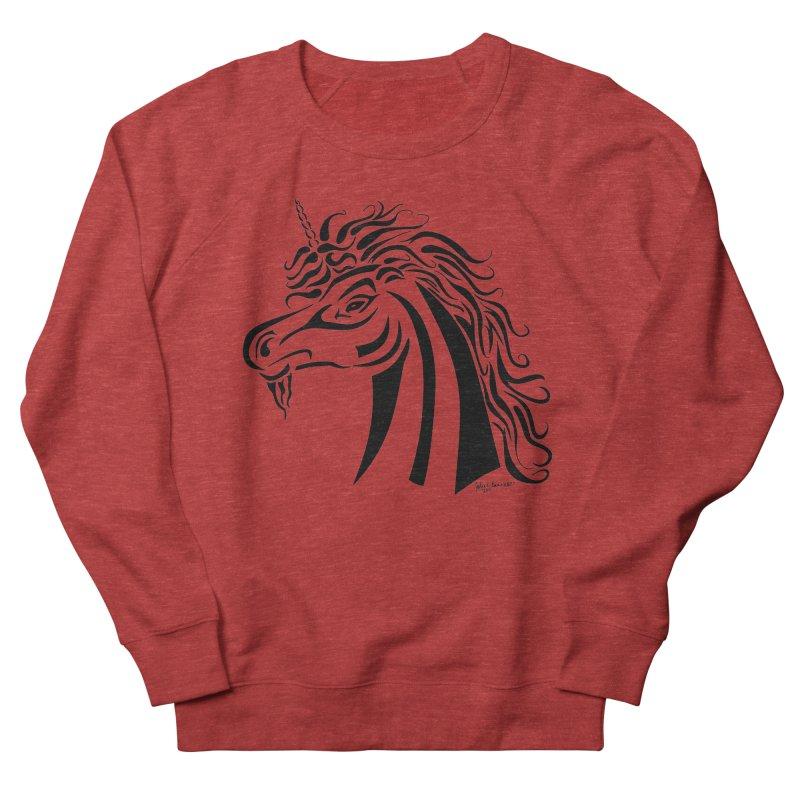 Unicorn Tribal Men's Sweatshirt by Magickal Vision: The Art of Jolie E. Bonnette