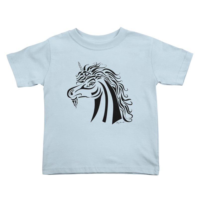 Unicorn Tribal Kids Toddler T-Shirt by Magickal Vision: The Art of Jolie E. Bonnette