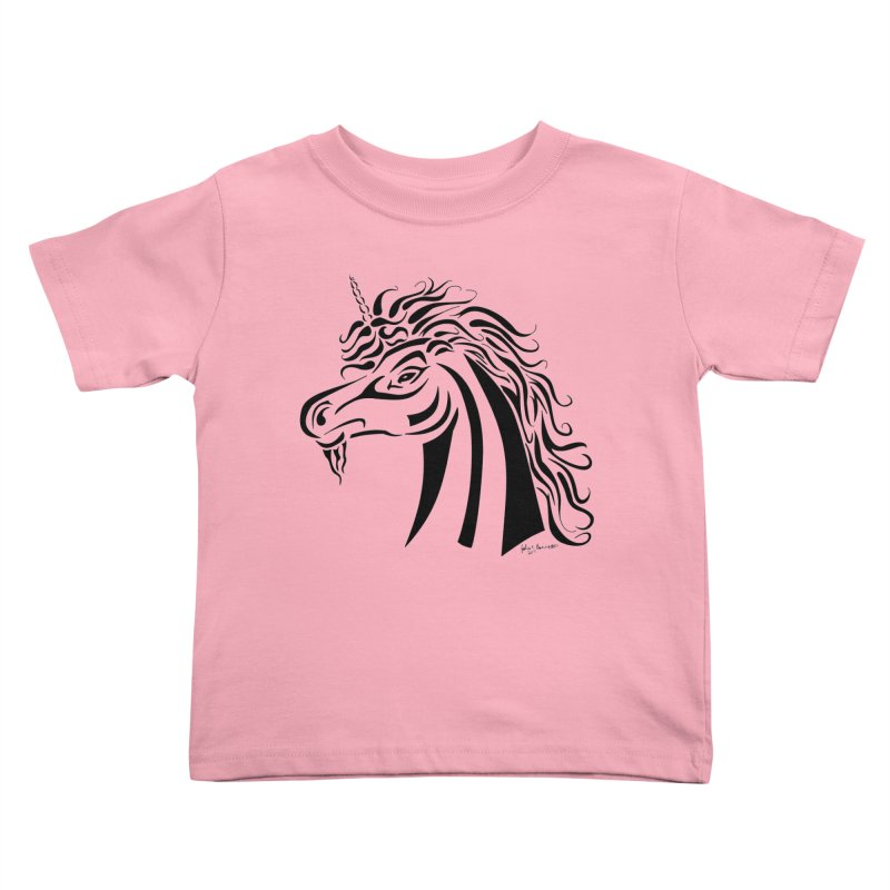 Unicorn Tribal Kids Toddler T-Shirt by Magickal Vision: The Art of Jolie E. Bonnette