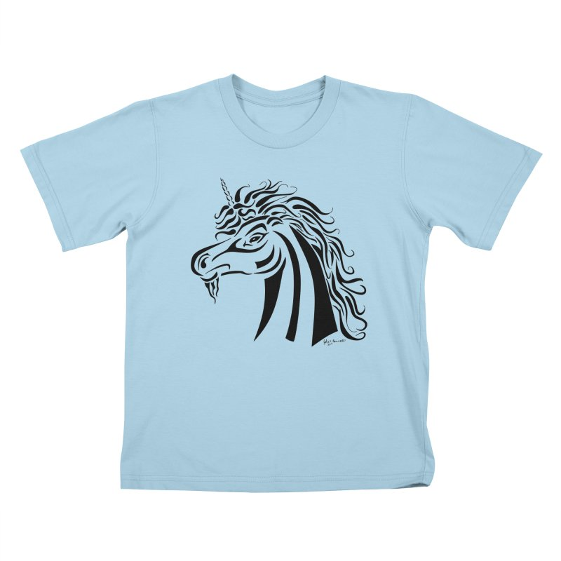 Unicorn Tribal Kids T-shirt by Magickal Vision: The Art of Jolie E. Bonnette