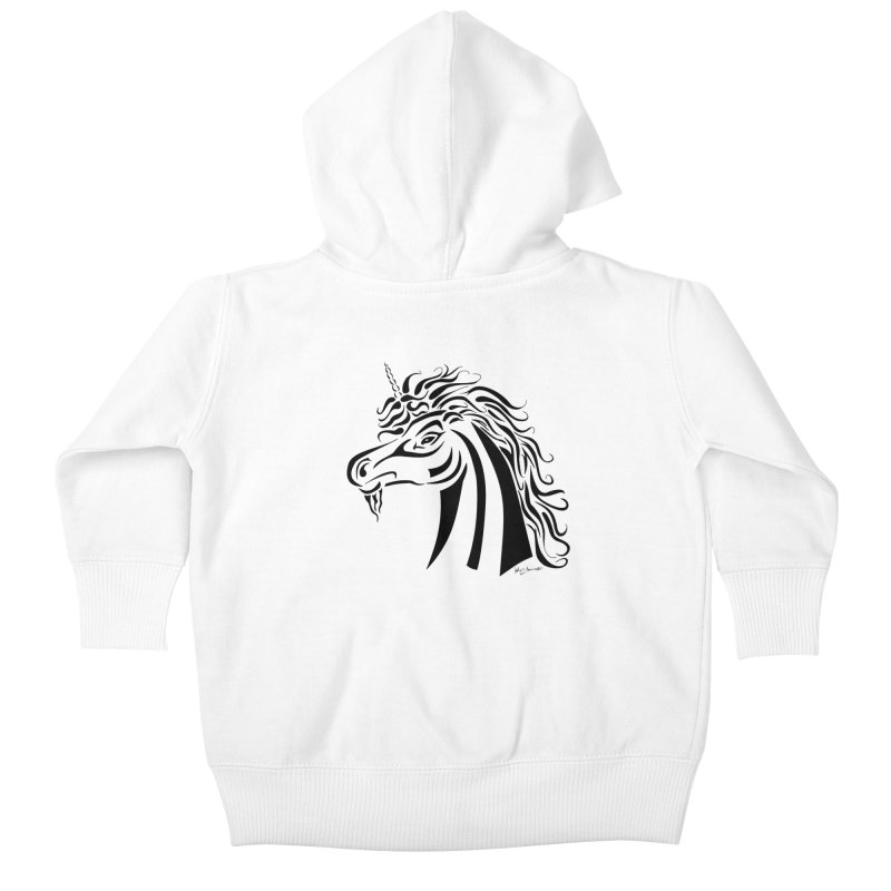 Unicorn Tribal Kids Baby Zip-Up Hoody by Magickal Vision: The Art of Jolie E. Bonnette