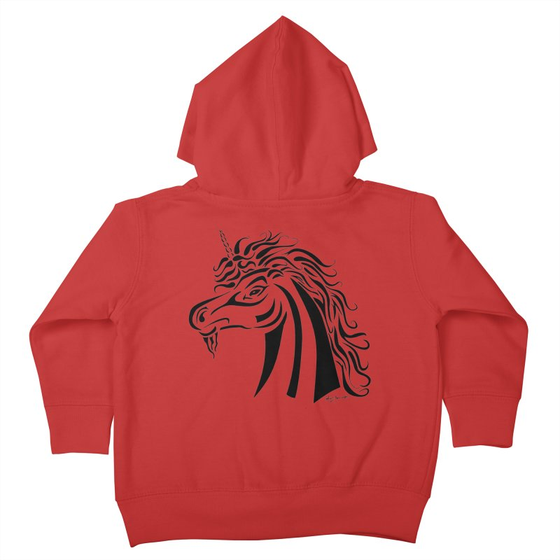Unicorn Tribal Kids Toddler Zip-Up Hoody by Magickal Vision: The Art of Jolie E. Bonnette