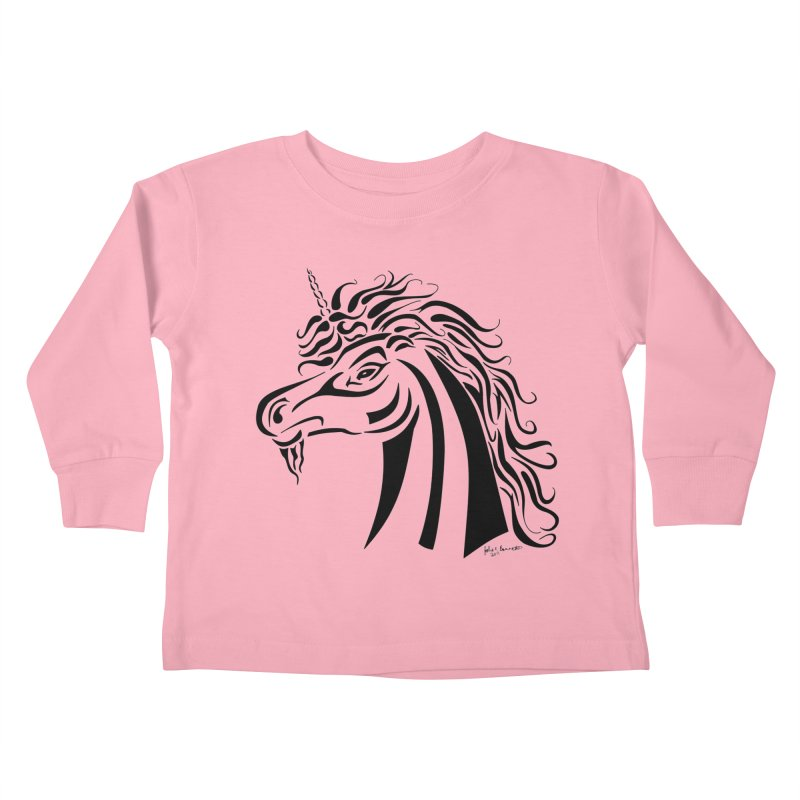 Unicorn Tribal Kids Toddler Longsleeve T-Shirt by Magickal Vision: The Art of Jolie E. Bonnette